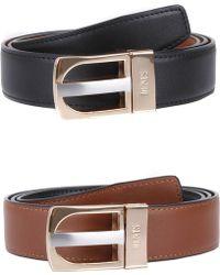 Dents - Reversible Leather Belt - Lyst