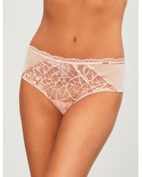 Chantelle - Segur Mesh And Stretch-lace Briefs - Lyst