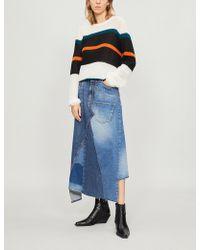 Loewe - Striped Slouchy Sweater - Lyst