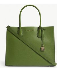 MICHAEL Michael Kors - Mercer Large Grained Leather Tote Bag - Lyst