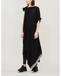 086ff8bdba22 Y-3 - Asymmetric Neck-tie Jersey Dress - Lyst