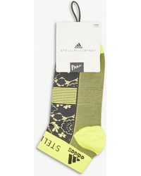 adidas By Stella McCartney - Floral Knitted Trainer Socks Pack Of Two - Lyst
