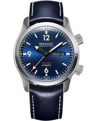 Bremont | U2/bl Automatic 45mm Stainless Steel And Leather Watch | Lyst
