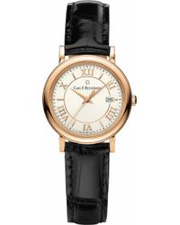 Carl F. Bucherer - 00.10312.03.15.01 Adamavi Rose-gold Sapphire Crystal And Leather Watch - Lyst