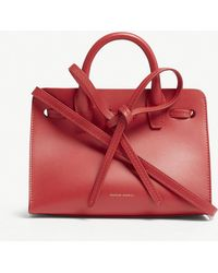 Mansur Gavriel - Ladies Flamma Red Mini Sun Vegetable Tanned Leather Bag - Lyst