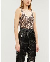 GOOD AMERICAN - Leopard-print Stretch-jersey Body - Lyst