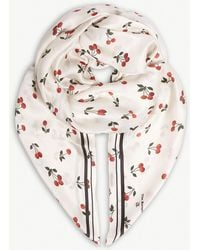The Kooples - Printed Silk Scarf - Lyst
