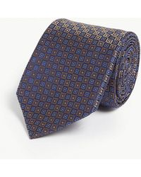 Canali - Floral Square Silk Tie - Lyst