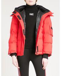Mo&co. - Detachable-hood Shell Puffer Jacket - Lyst