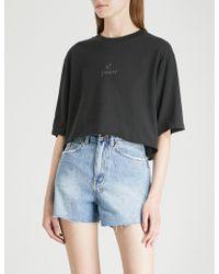 Ksubi - Hi Society Cropped Cotton-jersey T-shirt - Lyst