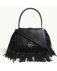 MICHAEL Michael Kors - Lillie Fringed Leather Shoulder Bag - Lyst