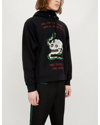 1cf1bf7e62e Lyst - Gucci Red Animalium Double Wolves Hoodie in Red for Men