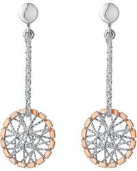 Links of London - Sterling Silver And 18ct Rose Gold Vermeil Dream Catcher Drop Earrings - Lyst