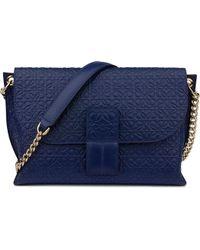 Loewe - Avenue Embossed Leather Cross-Body Bag - Lyst
