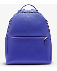 Smythson - Panama Small Cross-grain Leather Backpack - Lyst