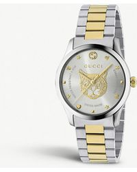 3a43e054e53 Gucci - Ya1264074 G-timeless Stainless Steel And Gold-plated Watch - Lyst