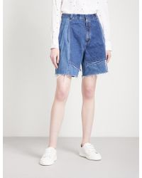 Ksenia Schnaider - Vintage Wide High-rise Denim Shorts - Lyst