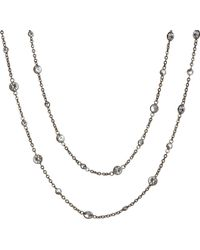 Annoushka - Nectar Night Jasmine Rhodium-plated 18ct White-gold And Sapphire Necklace - For Women - Lyst