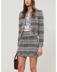Claudie Pierlot - Siena High-waist Tweed Skirt - Lyst