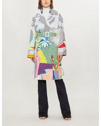 Mary Katrantzou - Pop Art-print Cotton-blend Trench Coat - Lyst