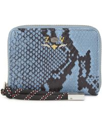 Zadig & Voltaire - Compagnon Snake-embossed Wallet - Lyst