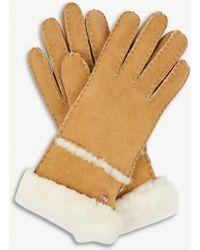 UGG - Turned-up Sheepskin Gloves - Lyst