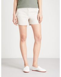 The White Company - Mid-rise Stretch-cotton Shorts - Lyst