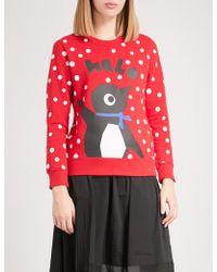 Chocoolate - Penguin-motif Cotton-jersey Sweatshirt - Lyst