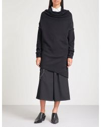 Y's Yohji Yamamoto - Longline Asymmetric Cotton-blend Jumper - Lyst