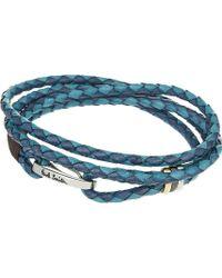 Paul Smith - Leather Wrap Bracelet - Lyst