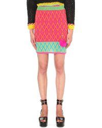 Katie Jones - Machine Knitted Mini Skirt - Lyst