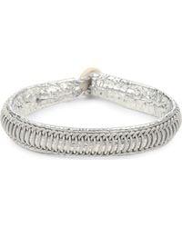 Maria Rudman - Pewter Woven Track Thread Bracelet - Lyst