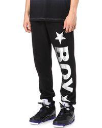 BOY London - Jogging Bottoms With Silver Logo - Lyst