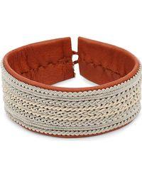 Maria Rudman - Pewter Woven Wide Bracelet - Lyst
