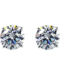 Carat* - Round 1ct Solitaire Stud Earrings - Lyst