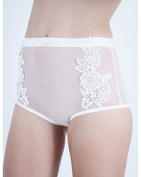 Daydream Nation | True Romance High-waisted Stretch-tulle Briefs | Lyst
