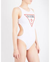 Guess - Ladies Blue Retro Guess Originals X A$ap Rocky Cutout Swimsuit - Lyst