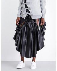 Fyodor Golan - Side-gathered Cutout Leatherette Skirt - Lyst