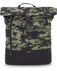 Replay - Camo (green) Print Nylon Backpack - Lyst