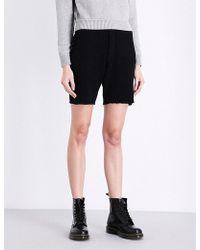 The Elder Statesman - Elasticated Cashmere And Silk-blend Shorts - Lyst