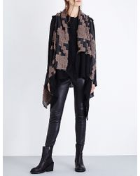 Simona Tagliaferri Textured-pattern Wool-blend Wrap
