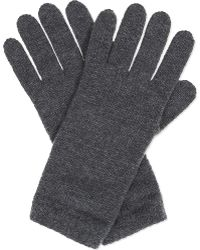 Johnstons - Knitted Cashmere Gloves - Lyst