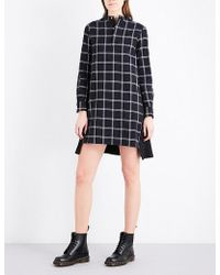 Izzue - Checked Cotton Dress - Lyst