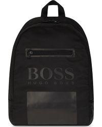 BOSS - Logo Twill Backpack - Lyst