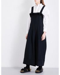 Limi Feu - Wide-leg Wool-twill Jumpsuit - Lyst