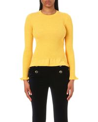 Mo&co. - Ribbed-knit Wool Top - Lyst