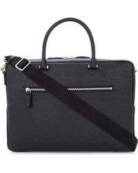 MCM - Embossed Logo Leather Briefcase - Lyst