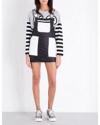 Mini Cream | Dungaree Shell Dress | Lyst