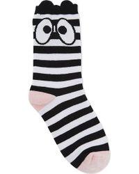 Mini Cream - Eyes & Stripes Cotton Socks - Lyst
