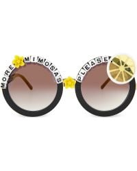 Rad & Refined | More Mimosas Please Round-frame Sunglasses | Lyst